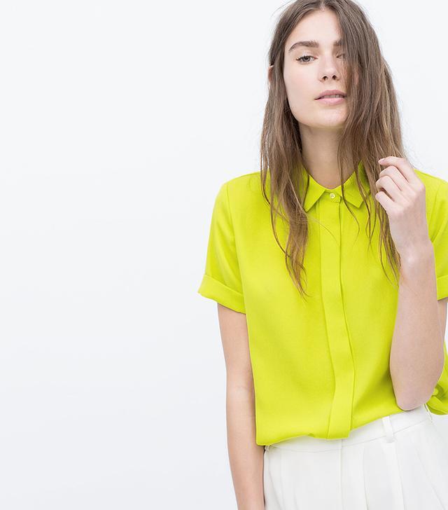 Zara Short-Sleeve Blouse