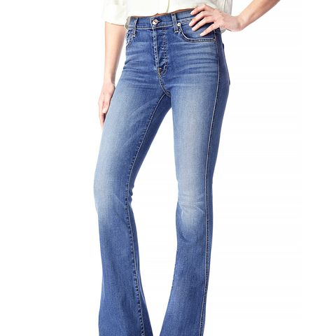 High-Waisted Bootcut Jeans