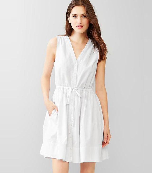 Gap Dobby Fit & Flare Dress