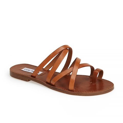 Antler Strappy Leather Toe Loop Sandals