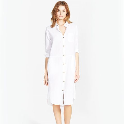 The Long Cotton Shirtdress