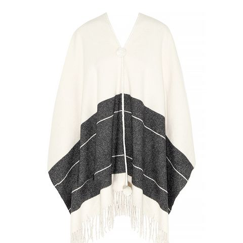 Fringed Wool Poncho