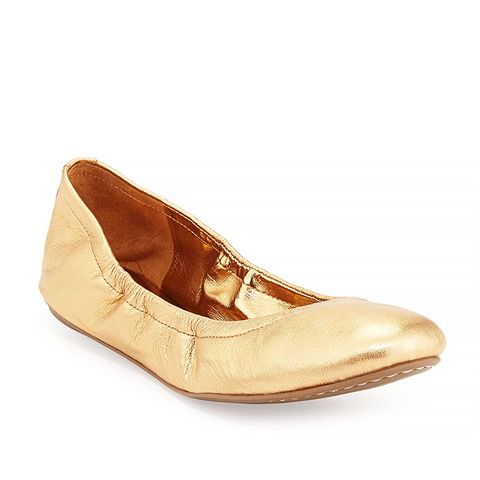Molly Stretch-Collar Ballet Flats