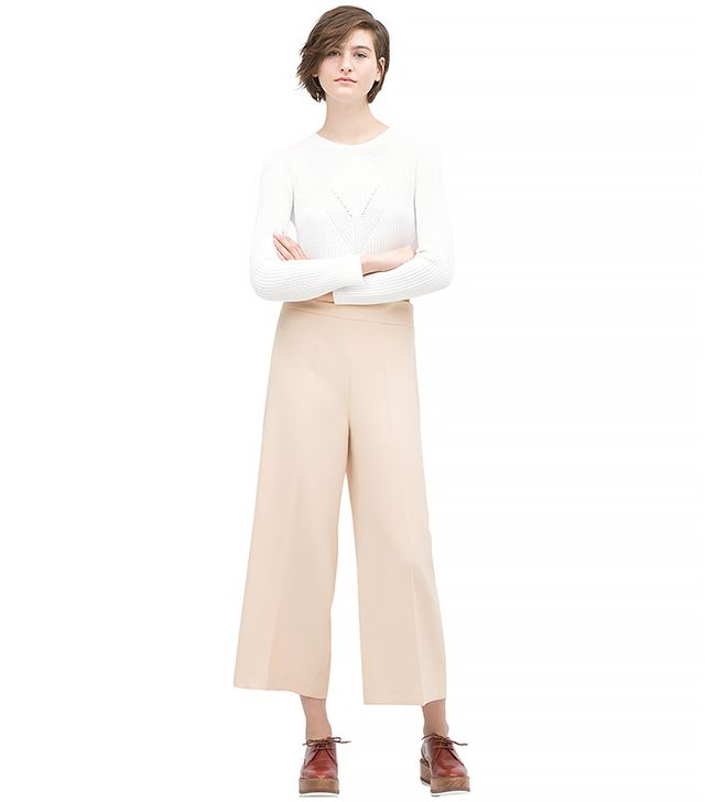 Zara Cropped High-Waisted Trousers