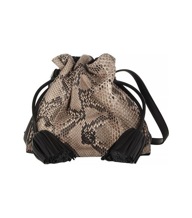 Loewe Flamenco Python Shoulder Bag
