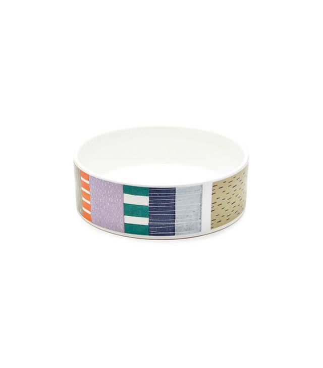 Fringe Studio Abstract Block Dog Bowl