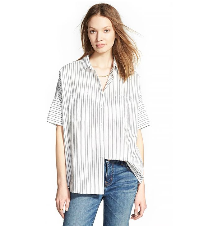 Madewell Courier Short-Sleeve Striped Shirt