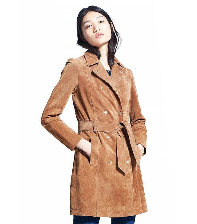 MANGO Suede Coat