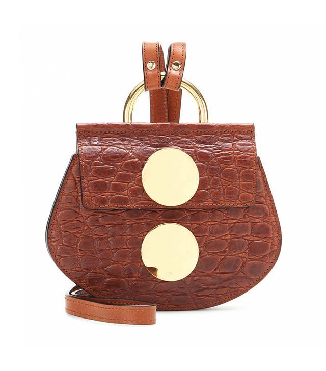Chloé Faye Mini Embossed Leather Shoulder Bag