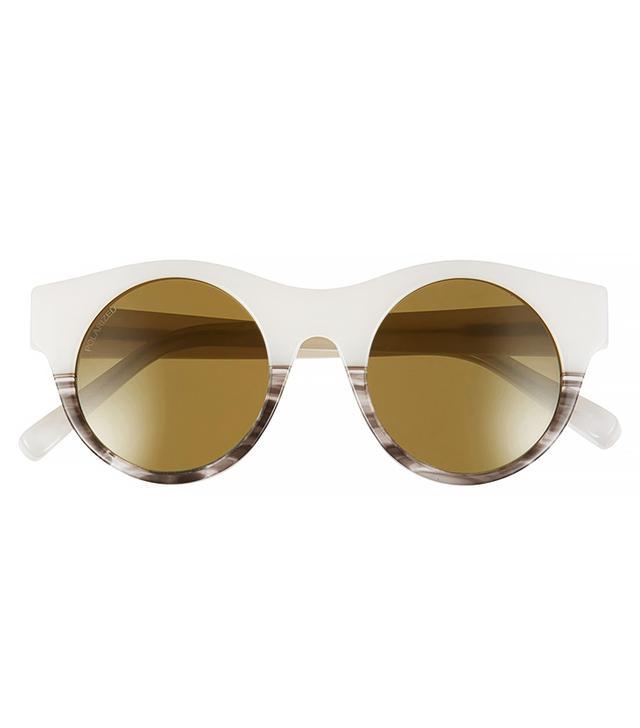 Elizabeth and James Olive 47mm Polarised Round Sunglasses