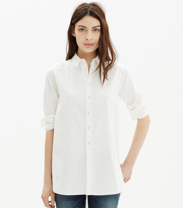 Madewell Oversized Side-Button Shirt