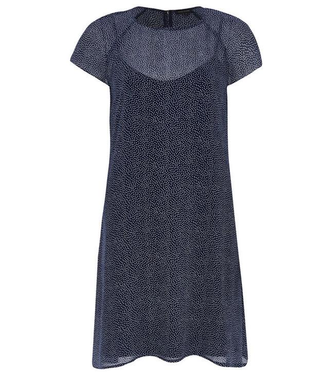 River Island Polk Dot Short Sleeve Swing Dress