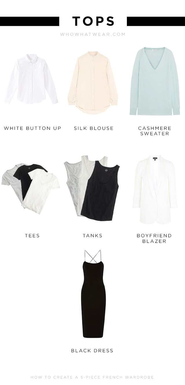 White Button-Up:  Silk Blouse: Equipment Signature Washed-Silk Shirt ($47) Cashmere Sweater: Equipment Sloane Cashmere Sweater ($540) Tees: Bassike Slim Vintage Neck T-Shirt ($90) ...