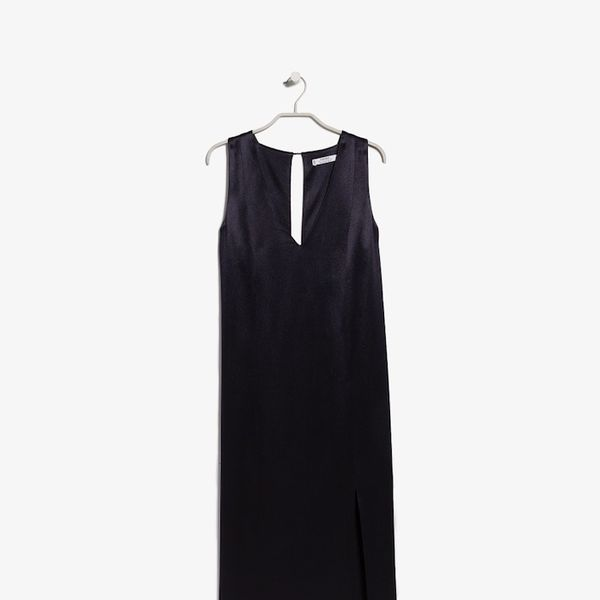 Mango PREMIUM Satin shift dress