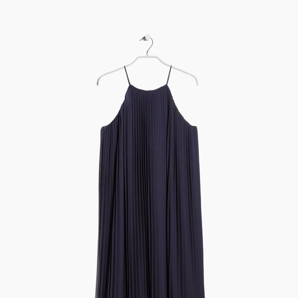 Mango PREMIUM Long pleated dress