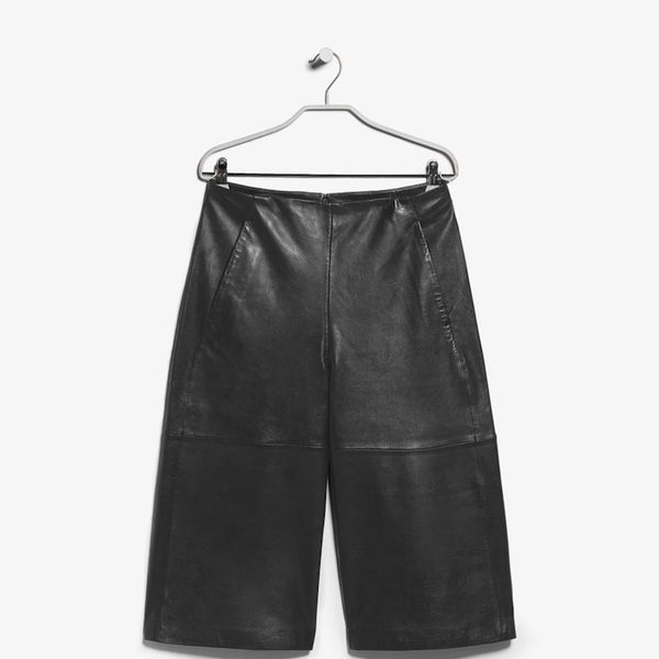 Mango PREMIUM Leather culottes