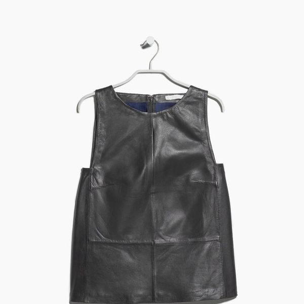 Mango PREMIUM Leather top