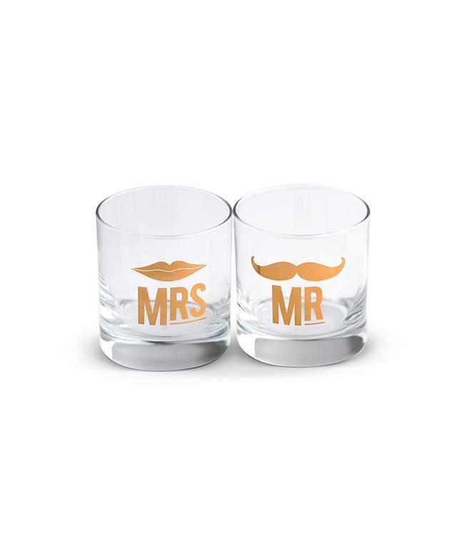 Furbish Studio Mr. and Mrs. Cocktail Glass Set