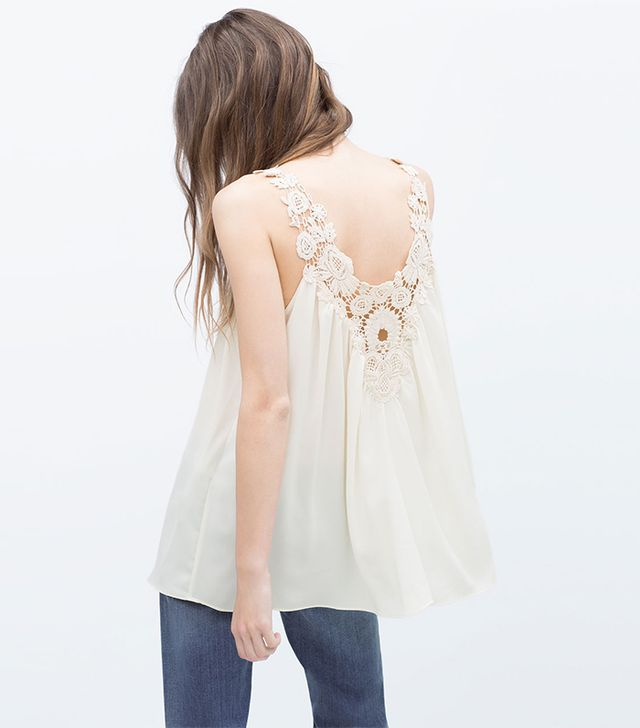 Zara Crochet Front Top