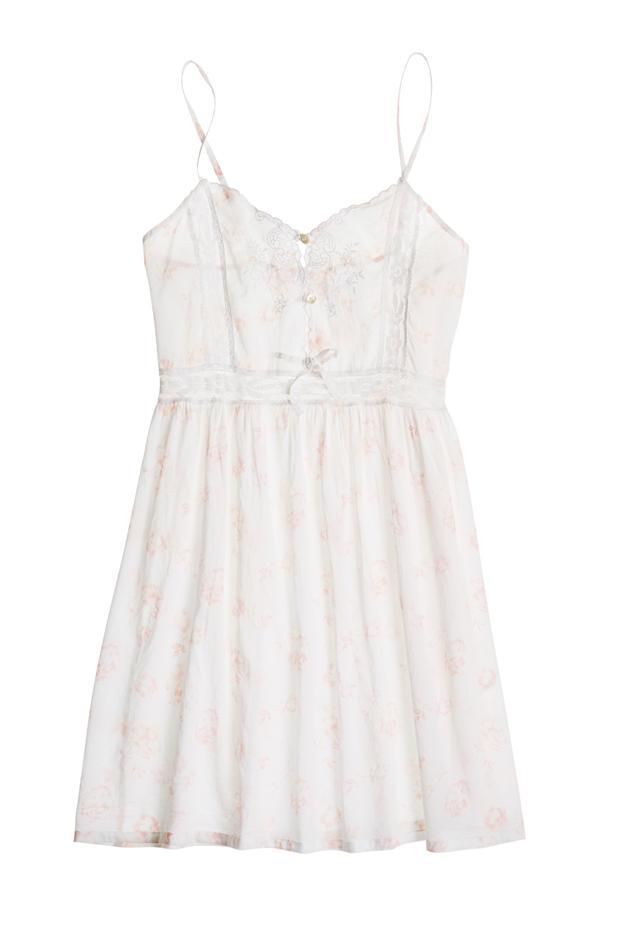 Pour Les Femmes Short Cotton Pink Floral Nightgown