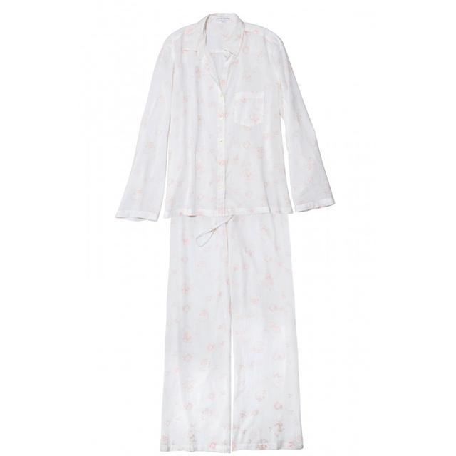 Pour Les Femmes Classic Cotton Pink Floral Pajama Set
