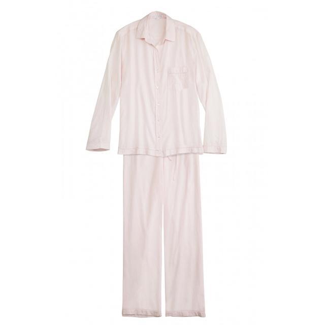 Pour Les Femmes Classic Cotton Solid Pink Pajama Set