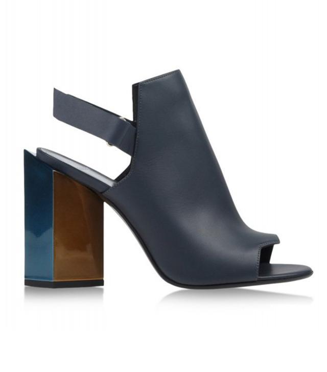 Pierre Hardy Navy Slingback Monolite Sandals