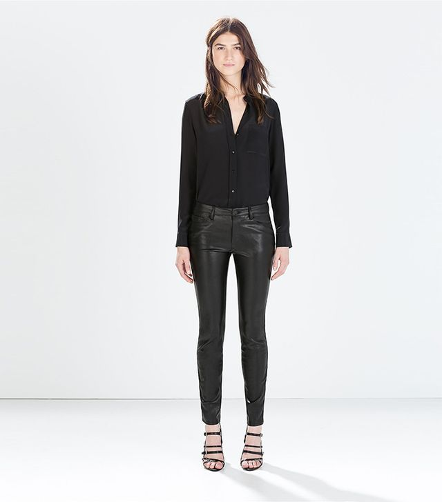 Zara Faux Leather Skinny Jeans