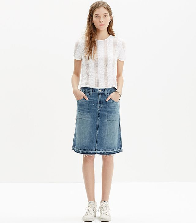 Madewell Raw-Edged Skirt