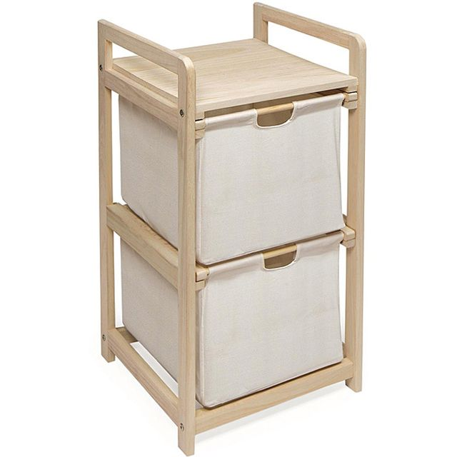 Badger Basket Two Drawer Hamper and Storage Unit