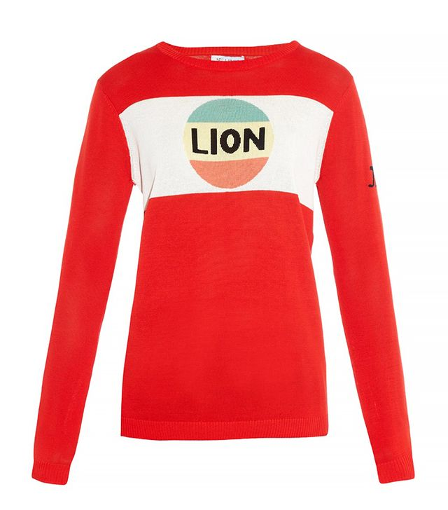 Bella Freud Lion Stripe Cotton-Knit Sweater