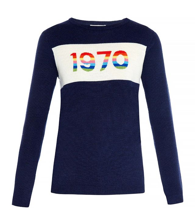 Bella Freud Rainbow 1970 Merino Wool Sweater