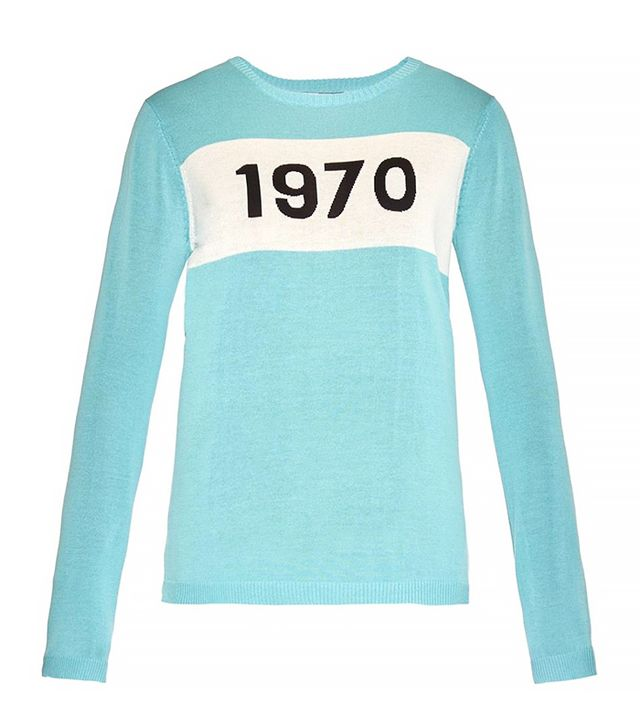 Bella Freud 1970-Intarsia Fine-Knit Sweater