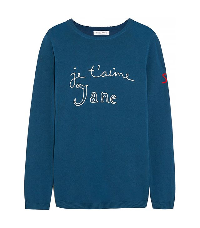 Bella Freud Je T'aime Jane Cotton Sweater