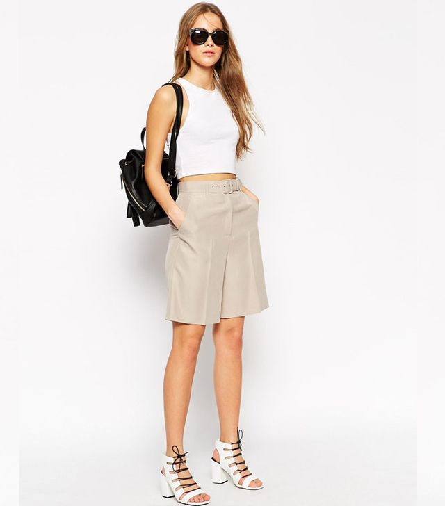 ASOS Tailored Belted City Short