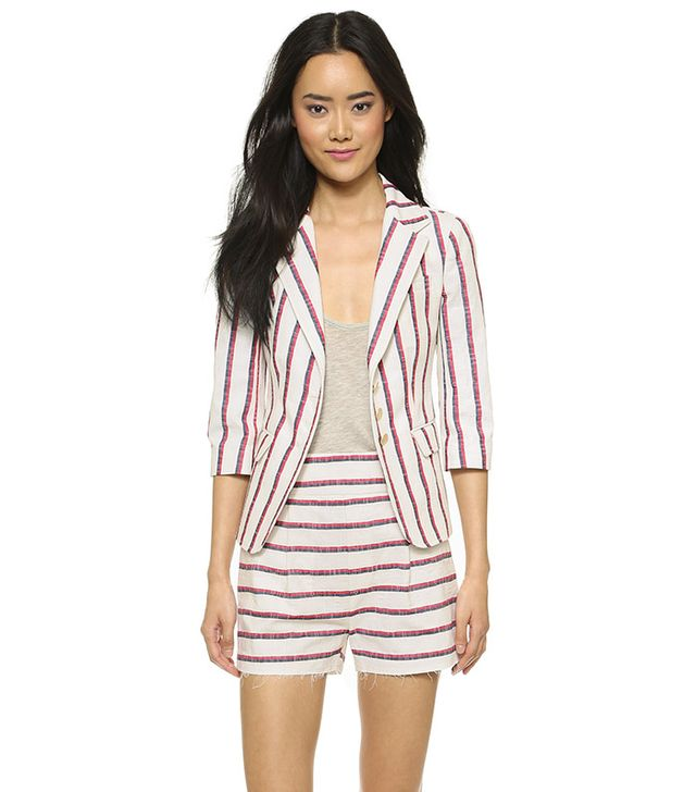 Band of Outsiders Striped Schoolboy Blazer