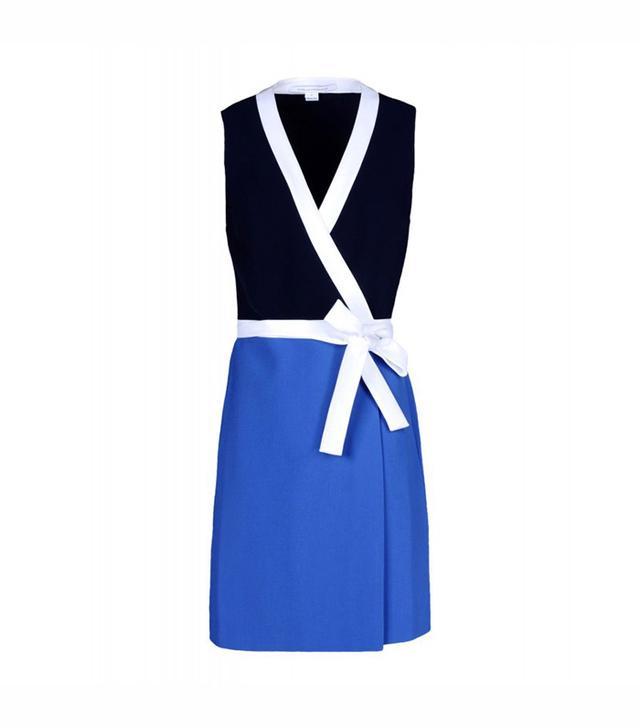 Diane von Furstenberg Gracie Color Block Wrap Dress