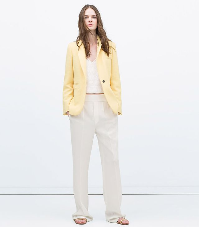 Zara Piqué blazer