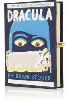 Olympia Le-Tan Dracula Embroidered Clutch