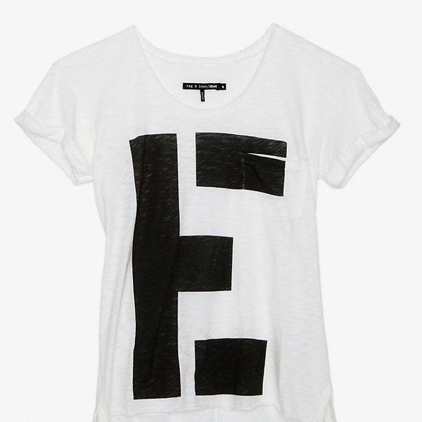 Rag & Bone/JEAN  Graphic Paint Tee