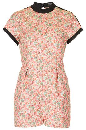 Topshop Ditsy Cutout Playsuit