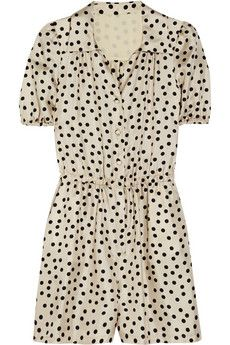 Dolce & Gabbana Polka-Dot Silk Playsuit