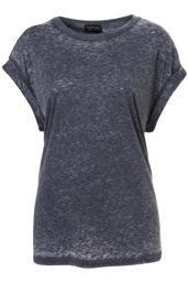 Topshop Topshop Oversized Burnout Tee Shirt