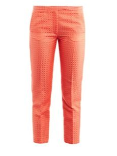 MSGM  Jacquard Cropped Trousers