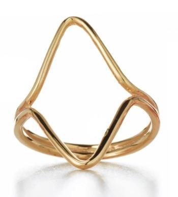 Sarah Chloe Sarah Chloe Triangle GEO Ring