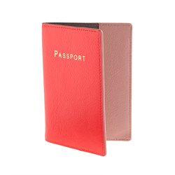 J.Crew Leather Colorblock Passport Case