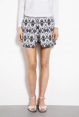 Theory  Andes Cotton Graphic Jacquard Shorts