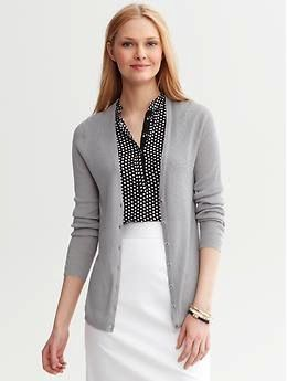 Banana Republic Banana Republic Rib Knit V-Neck Cardigan