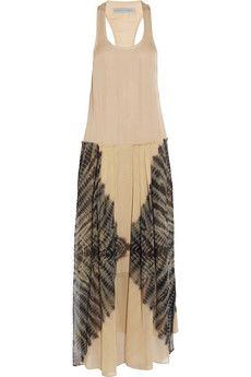 Raquel Allegra  Tie-Dye Silk Maxi Dress