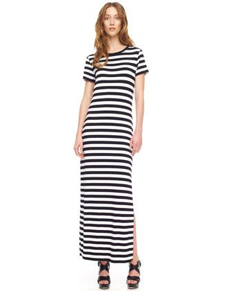 MICAHEL Michael Kors  Striped Maxi Dress